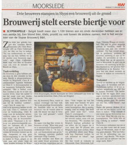 Brouwerij stelt eerste biertje voor